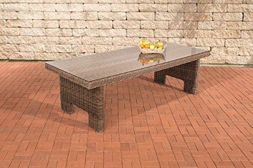 CLP Poly-Rrattan Garten-Tisch SANDNES, ALU Gestell rostfrei, 5 mm RUND-Rattan