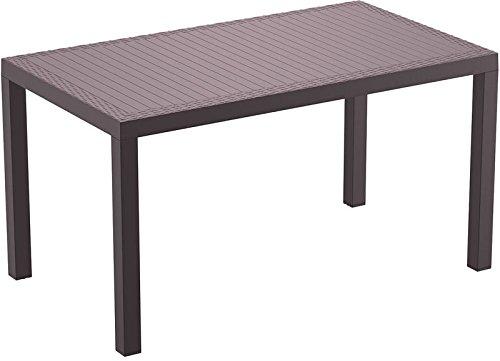 CLP Polyrattan-Tisch ORLANDO | Wetterfester Gartentisch aus UV-beständigem Kunststoffgeflecht | In verschiedenen Farben erhältlich