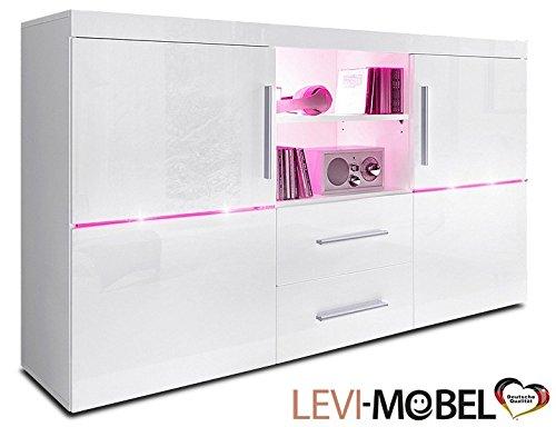 levi moebel sideboard wohnzimmer wohnwand anbauwand wei hochglanz neu 211160 m bel24. Black Bedroom Furniture Sets. Home Design Ideas