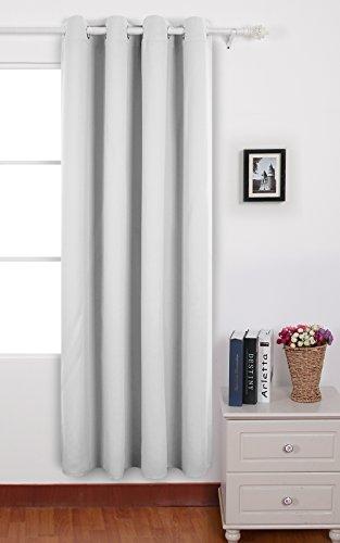 Deconovo Verdunkelungsgardine mit Ösen Gardinen Wohnzimmer Vorhang Blickdicht 240x140 cm Weiß