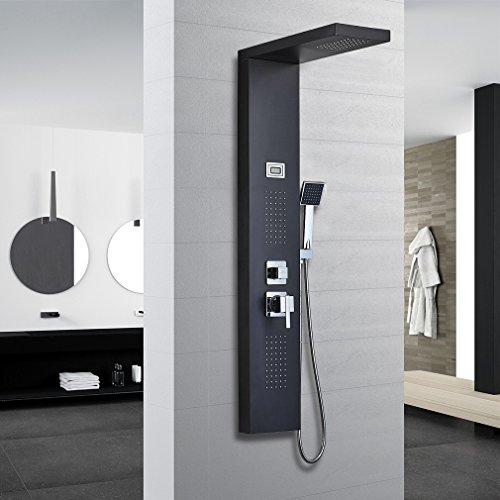 Auralum Schwarz Küchenarmatur Mischbatterie Kupfer Armatur für Kalt-warmwasser 360°-Drehung Küche Spültischarmatur Einhandhebelmischer …