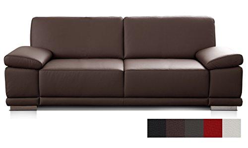 Cavadore Leder- und Kunstledersofas Corianne/Hochwertige Sofas mit Modernem Design/mit Armteilverstellung/Verschiedene Größen und Bezüge