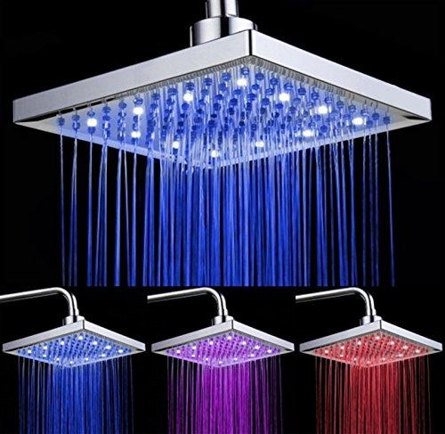 Duschkopf mit 7 farbigen LEDs mit automatischem Farbwechsel, Antikalk