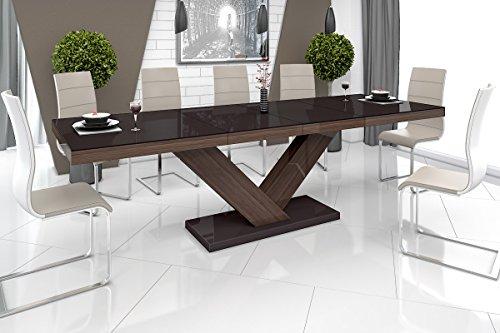 Esstisch VICTORIA Tisch ausziehbar in Super Hochglanz Acryl