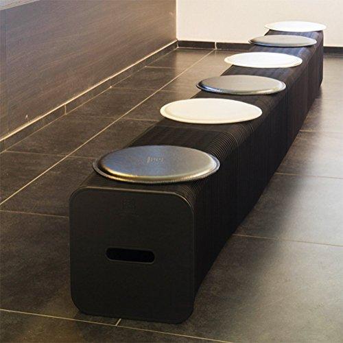 Faltbarer Kraft-Papier Hocker, Einziehbare Sofa-Bank, Einfache Persönlichkeits Möbel-Hocker, Konferenz Und Mall 28Cm Sechs Sitz,Bulrush