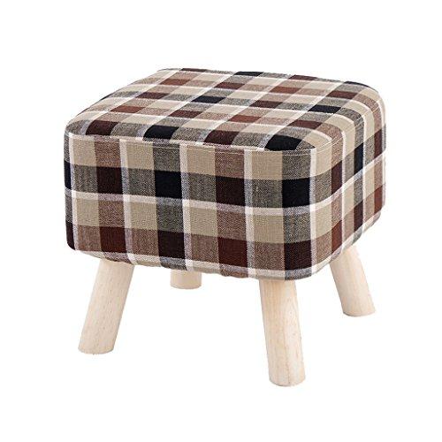 LIUXUEPINGdengzi Schuhhocker Wechseln Kleine Sofabank Stuhl aus Massivem Holz Stoff Hocker Eine Schuhbank Tragen Bettende Hocker