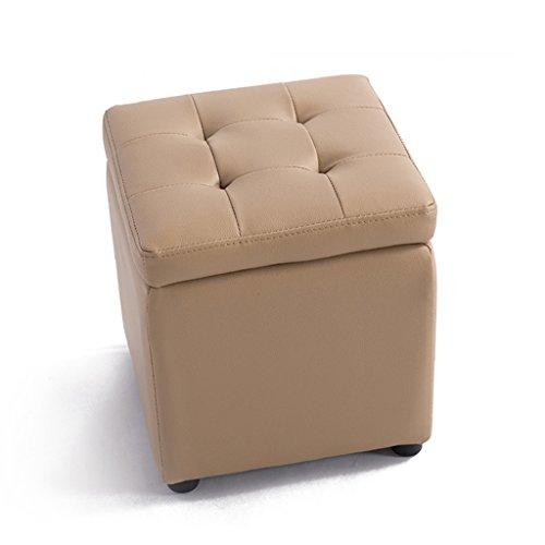 Quadratischer PVC-Holzspeicherhocker beschuht Schemelhockerpfeil-Sofabank