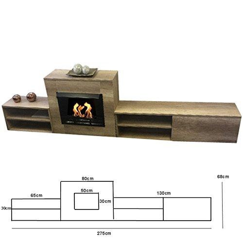 Kaminofen Ethanol & Gelkamin Sideboard modern 2,75m Limited Edition