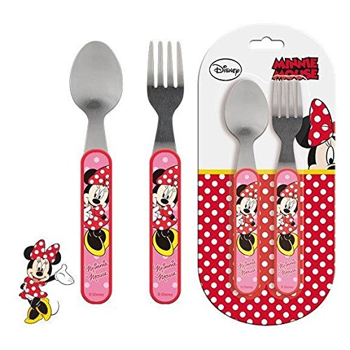 Minnie Mouse – 2-teiliges Besteck-Set aus Metall (Suncity mid101513)