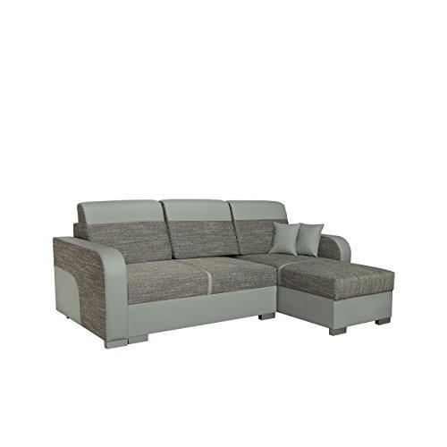 Mirjan24  Design Ecksofa Eckcouch Bari mit Schlaffunktion und 2 Bettkasten, Bettsofa, L-Form Funktionssofa, Sofa Wohnlandschaft Couch (Cayenne 1132 + Nevada 2)
