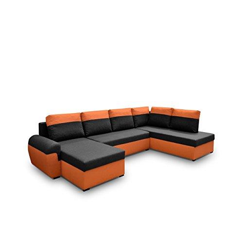 mirjan24 elegante ecksofa mori xl eckcouch mit schlaffunktion und zwei bettkasten gro es. Black Bedroom Furniture Sets. Home Design Ideas