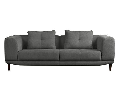 Mirjan24  Sofa Mello III, Farbauswahl, 3 Sitzer Couch, Hochwertiges Polstersofa, Couchgarnitur, Sofagarnitur, Wohnlandschaft (Chester 19)
