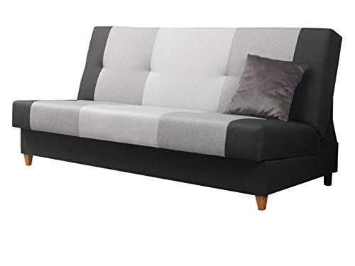 Mirjan24  Sofa Twister mit Bettkasten und Schlaffunktion, Farbauswahl, Schlafsofa, Wohnlandschaft, Schlafcouch, Couch (Malmo New 96 + Malmo New 90 + Malmo New 83)