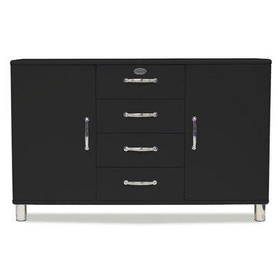 Sideboard Tenzo Malibu 86 cm mit 1 Schublade & 2 Türen MDF Farbe wählbar, Farbe:Grau