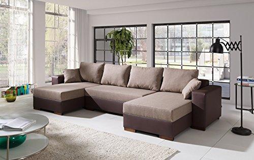 Sofa Couchgarnitur Couch Sofagarnitur TIGER 2 U Polstergarnitur Polsterecke Wohnlandschaft mit Schlaffunktion
