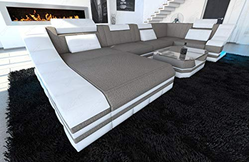 Sofa Dreams Designer Stoffsofa Turino als Moderne U Form Wohnlandschaft