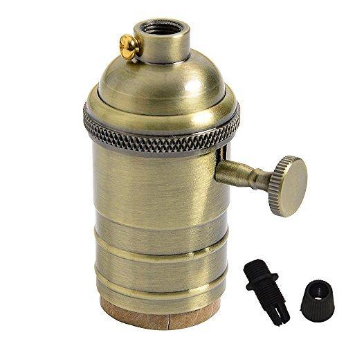 Splink Lampenfassung E27 Vintage Antike Bronze Fassung mit Schalter für Pendelleuchte Hängelampe Halter DIY