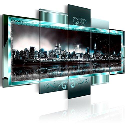 murando - Bilder 200x100 cm - Vlies Leinwandbild - 5 Teilig - Kunstdruck - modern - Wandbilder XXL - Wanddekoration - Design - Wand Bild - New York Abstrakt 020111-29
