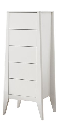 tenzo 4085-005 French Designer Kommode, MDF, weiß, 43 x 52 x 123 cm