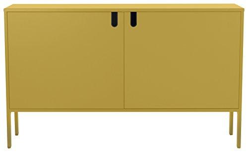 tenzo 8554-029 UNO Designer Schrank 2 Türen-Breit, MDF/Spanplatte, Mustard, 148 x 40 x 89 cm