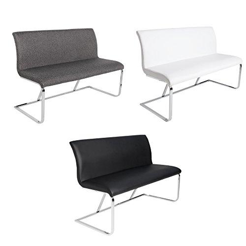 Design Sitzbank HAMPTON FARBWAHL 130cm mit Rückenlehne