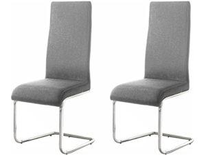 Marco 2X Stuhl Esszimmerstuhl Essstuhl Küchenstuhl Freischwinger Lehnstuhl Wartestuhl Besucherstuhl Metallgestell grau