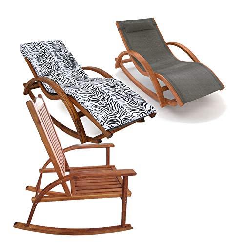 Ampel 24 Schaukelstühle zum Relaxen, Gartenliegen aus vorbehandeltem Holz wetterfest, Relaxliegen auch mit Auflage
