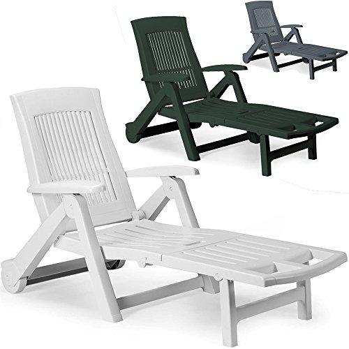 Deuba Sonnenliege Liege ZIRCONE Gartenliege Relaxliege Liegestuhl Gartenmöbel Stuhl