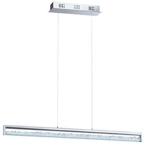 EGLO Hängeleuchte Aluminium Integriert, Chrom 100 x 8 x 110 cm