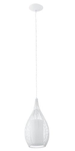 EGLO Hängeleuchte Razoni in weiß E27 Stahl 19 x 19 x 110 cm
