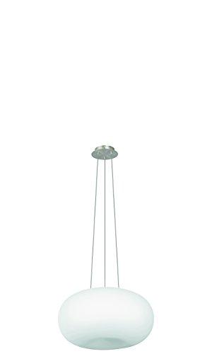 EGLO Hängeleuchte Stahl E27, Weiß/Nickel-matt 44.5 x 44.5 x 110 cm