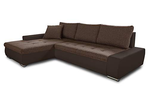 Ecksofa mit Schlaffunktion Aspen - Couch mit Bettkasten, Big Sofa, Sofagarnitur, Couchgarnitur, Polsterecke