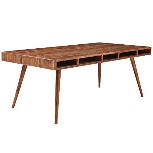 FineBuy Esszimmertisch 200x100x77 cm Sheesham Massivholz Tisch | Designer Küchentisch Holz | Massivher Holztisch Rustikal | Speisetisch Massives Echt-Holz Modern