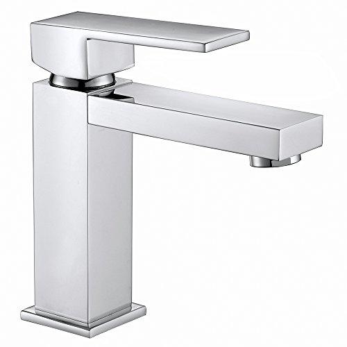 Homelody Chrom Wasserhahn Bad Waschbecken Armatur Badarmatur Waschtischarmatur Waschbeckenarmatur Einhebelmischer Mischbatterie …