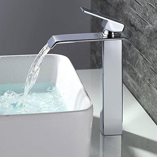Homelody Wasserhahn hoch Armatur Bad Wasctisch Waschbecken Mischbatterie Hoher Waschtischmischer