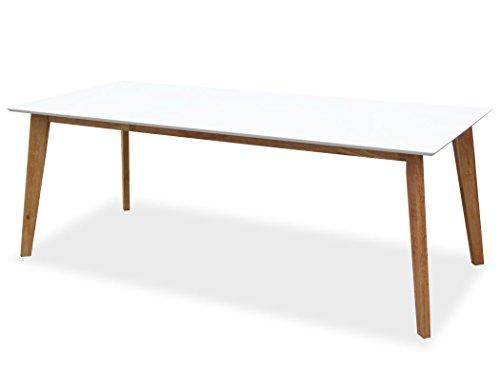 KMH®, Rechteckiger Esszimmertisch Jutta (210 x 90 cm) Weiss (#201203)