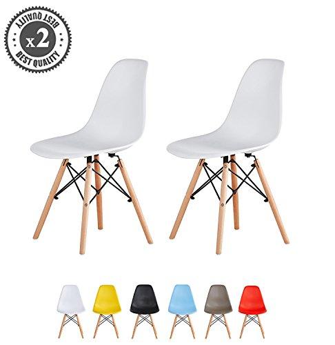 MCC Retro Design Stühle im 2er Set, Eiffelturm inspirierter Style für Küche, Büro, Lounge, Konferenzzimmer etc, 6 Farben, Kult