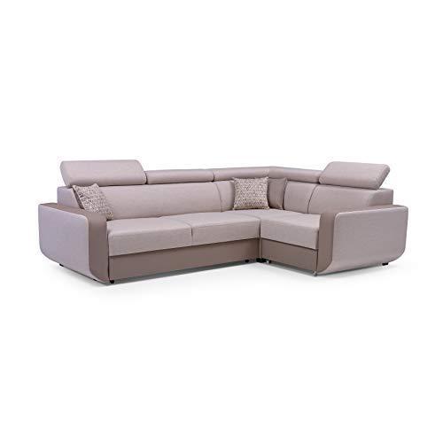 MOEBLO Ecksofa mit Schlaffunktion Eckcouch mit Bettkasten Sofa Couch L-Form Polsterecke Celine