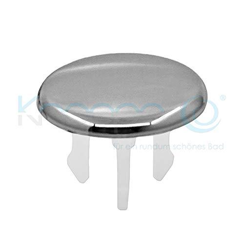 Waschbecken Design Überlauf Abdeckung, Überlaufblende - KNOPPO Set - 2 x Cap (chrom)