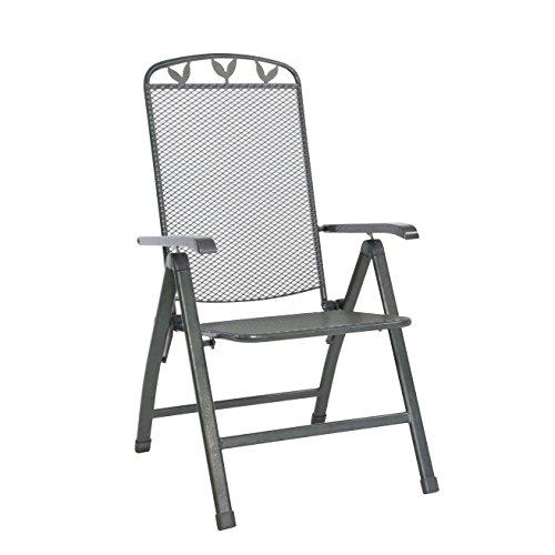 greemotion Gartensessel Toulouse stapelbar - Hochlehner Gartenstuhl Metall mit Kunststoff Beschichtung in Weiß - Stapelsessel Garten & Terrasse - Stapelstuhl bis 110 kg